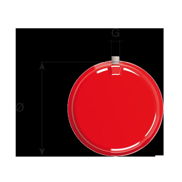 Diametro vaso di espansione con membrana in gomma gamma CP