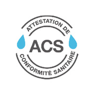 Sale of certified ACS expansion vessels and pressure tanks: Attestation Conformité Sanitaire, France